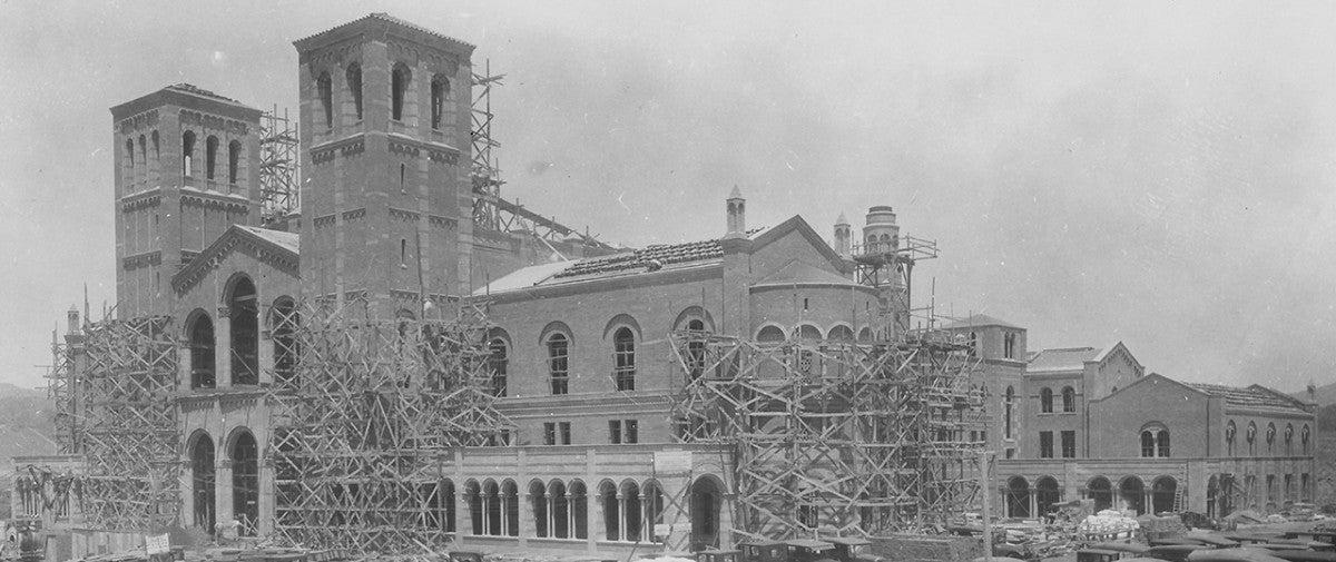 Construction of UCLA Royce Hall