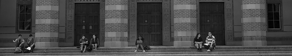 Header image of students at UCLA