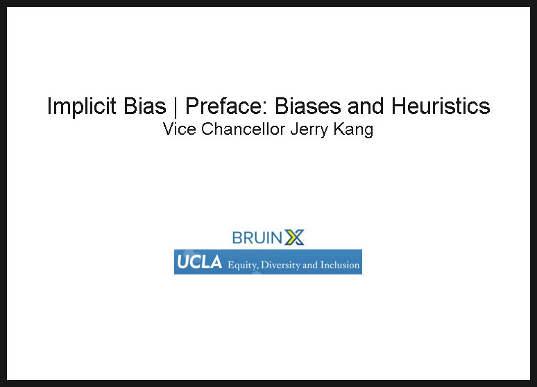 Screenshot of Implicit Bias Preface