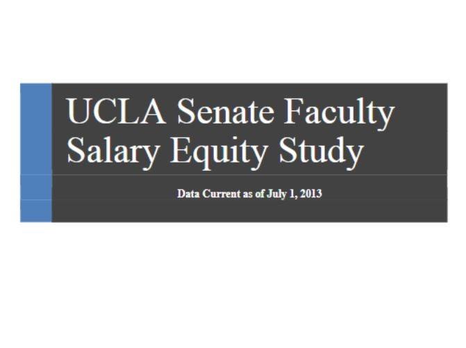 UCLA Faculty Salary Equity Study