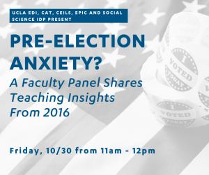 flyer for election faculty workshop