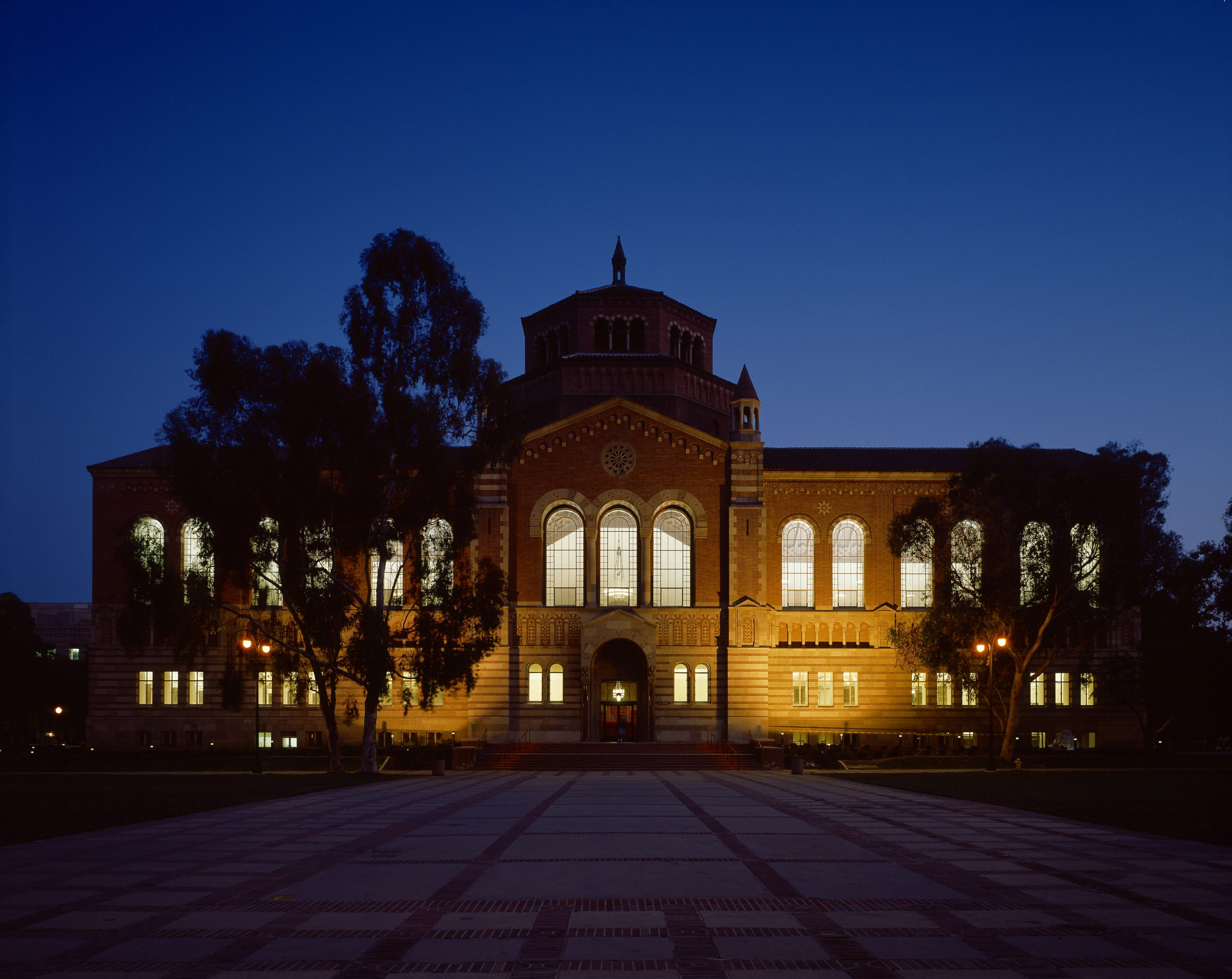 powell library building at night