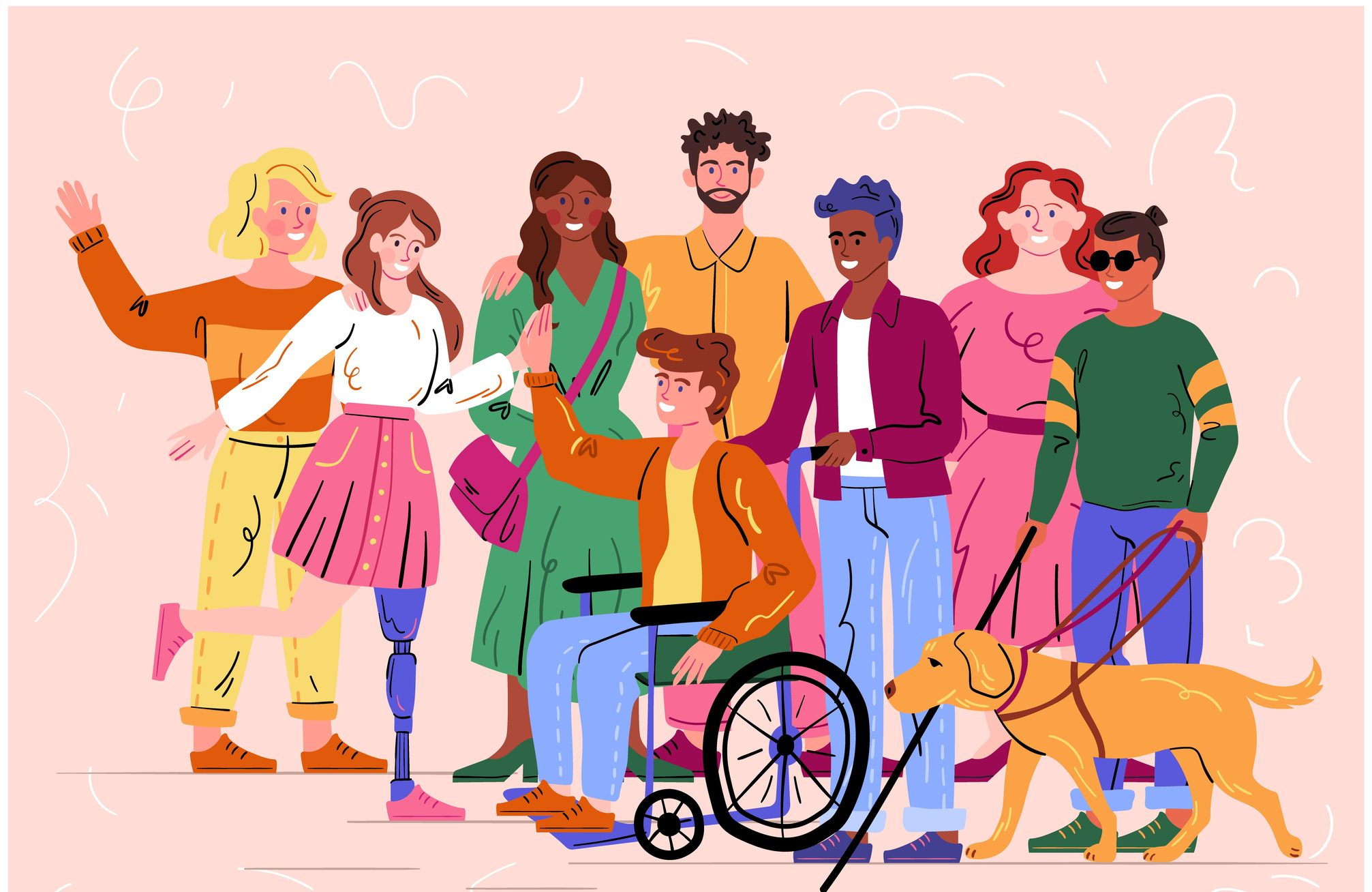 graphic of diverse group of people